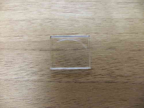 ACRYLIC WALLED UB RECTANGLE - 16.0MM X 13.0MM - FLAT SURFACE