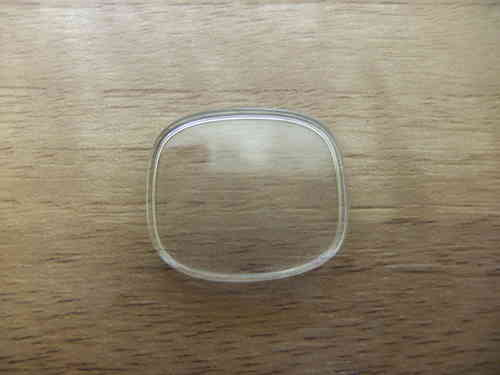 RECTANGLE ACRYLIC UB - WALLED - CURVED N RND'D - SERIAL No. 365 - CF419 - 22MM X 18.8MM
