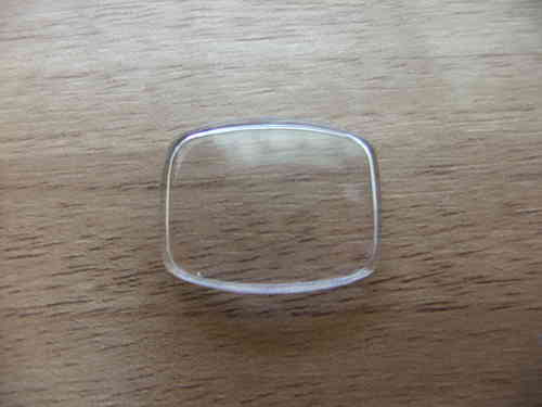 RECTANGLE - CURVED N RND'D RECT - ACRYLIC - WALLED - CURVED SURFACE - 21.7MM X 16.6MM