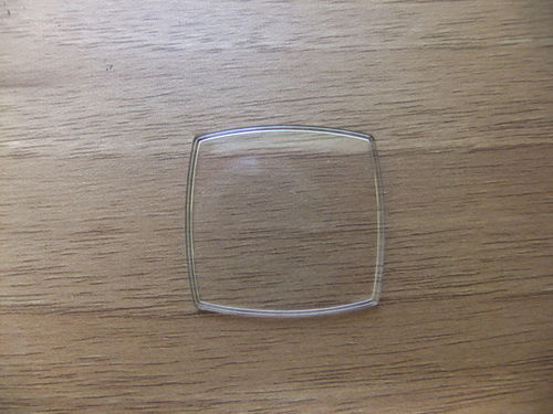 RECTANGLE ACRYLIC UB - WALLED - CURVED SIDES - 28.0mm x 26.2mm - Q708